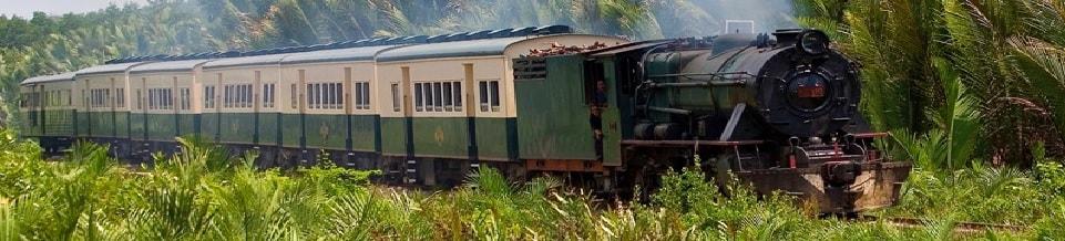 Britse Noord-Borneo stoomtrein
