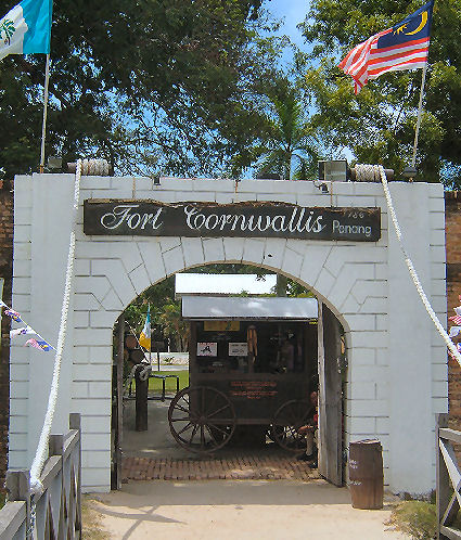 Entrance of Fort Cornwallis