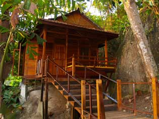 The exclusive Japa Mala Resort.