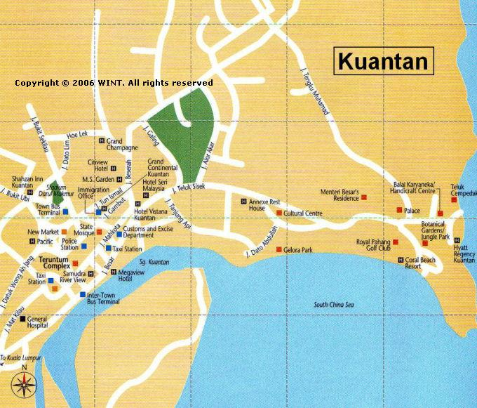 City map of Kunatan