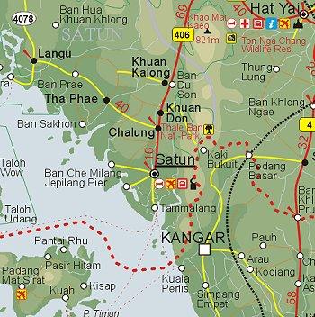 Satun Map | Map of Satun Province, Thailand