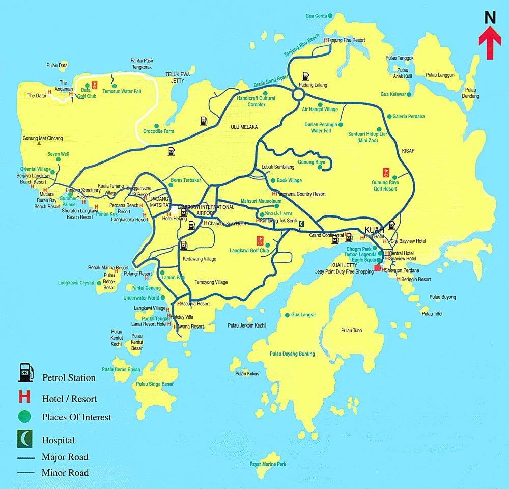 Map Langkawi