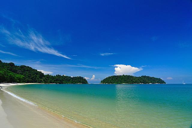 Het strand op Pangkor